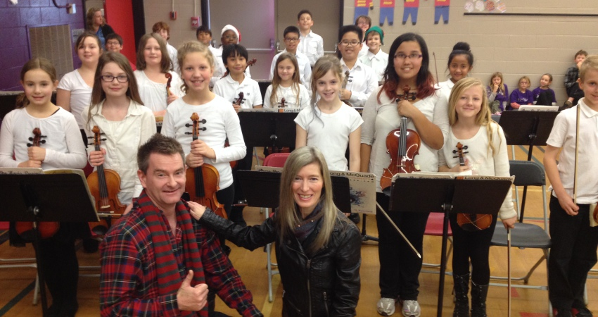 Kim & David of Cookeilidh enjoy our Strings Concert
