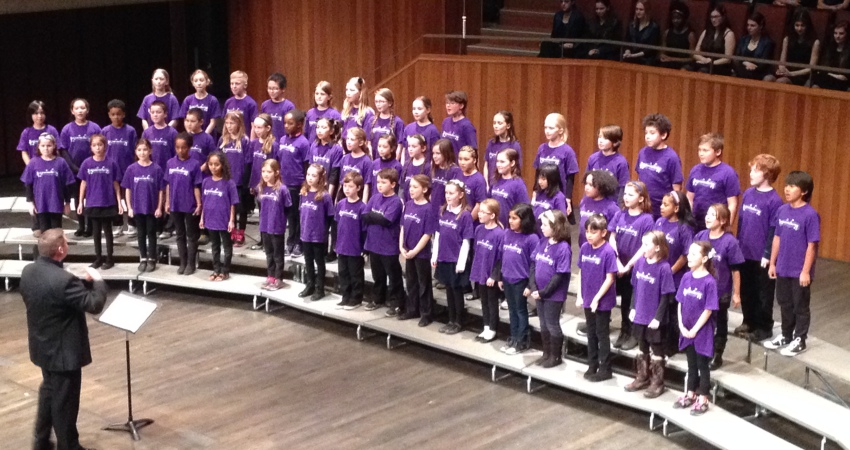 Ecole Quadra School Choir performs at Victoria Sings
